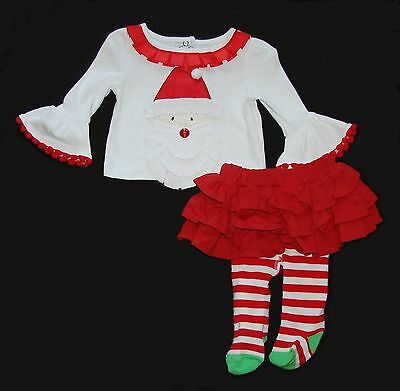 Mud Pie toddler baby girl Christmas skirts tops leggings outfits 0-6 months NWT