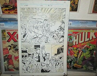 Uncanny X-Men 264 HALF SPLASH PAGE ART Mike Collins 1990 Pencil & Ink Beast Pg.