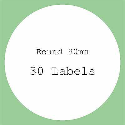 5 A4 Sheets Blank Labels Round Square Oval Stickers Large Circles Stickers Diy