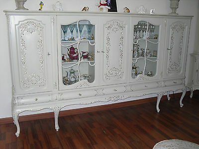 warrings barock rokoko chippendale 4 st hle blattgold belle blanc vintage. Black Bedroom Furniture Sets. Home Design Ideas
