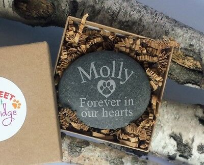 Large- Personalized Pet Memorial Garden Stone Engraved Dog Cat Memorials Garden