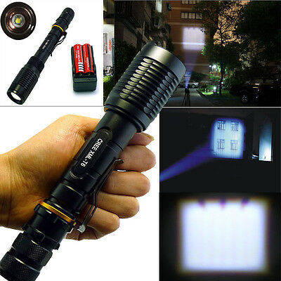 2000 Lumen UltraFire CREE XML-T6 LED Flashlight Torch+18650 Battery+Charger