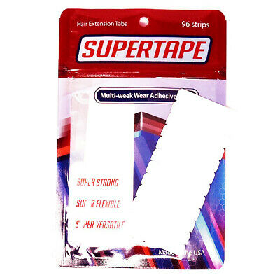 SUPERTAPE Hair Extension Tape Tabs serious stick clear double sided Weave Weft