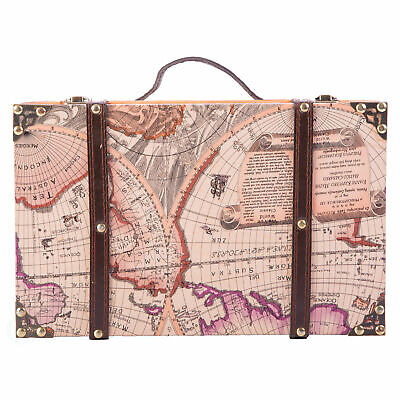 New Vintiquewise Old World Map Suitcase, QI003030