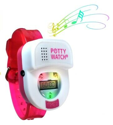 Potty Time Watch Toddler Toilet Training Aid Timer Reminder ~ Pink