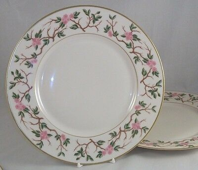 Franciscan WOODSIDE 2 Dinner Plates Gold Trim GREAT CONDITION