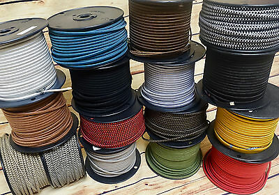 25' Cloth Covered 2-Wire Electrical Cord - Vintage Style Fabric Lamp Antique Fan