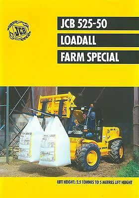 1999 Jcb Loadall 525-50 Farm Special Specification Brochure