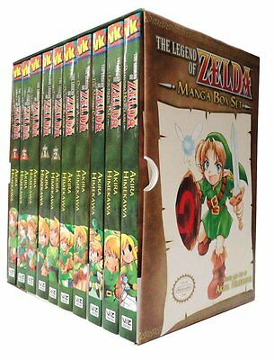 The Legend of Zelda Box Set 1-10 Manga Akira Himekawa Brand NEW