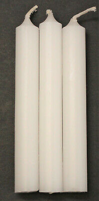 """Lot of 3 Chime Spell Candles: Bright White, Mini 4"""" Pagan, Wicca, Altar, Ritual"""