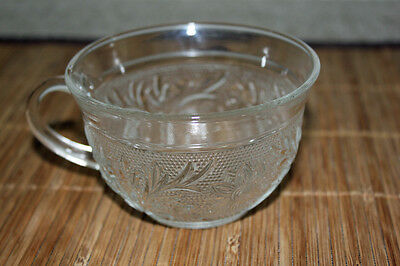 Antique/Vintage EAPG Sandwich Crystal Pattern Cup, Hocking Glass Co.