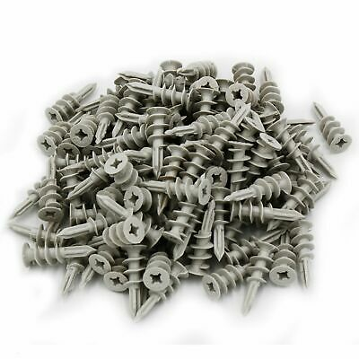 30x Self Drilling Wall 50 lbs Threaded Drywall Plastic Anchors for #8-10 Screws