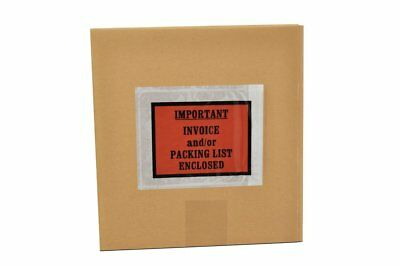 "2000 Packing List / Invoice Enclosed Envelopes Full Face 4.5"" x 5.5"" + Free Ship"