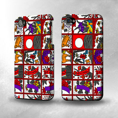 S1923 Hanafuda Japanese Flower Card Case Cover For IPHONE 4 4S