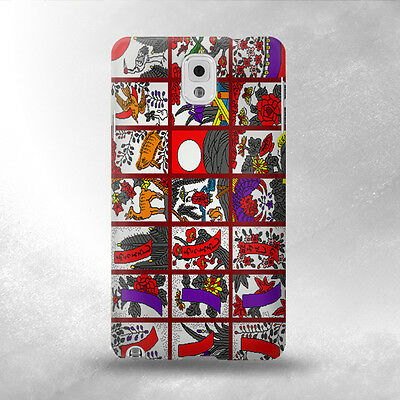 S1923 Hanafuda Japanese Flower Card Case Cover For Samsung Galaxy Note 3