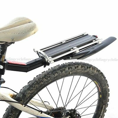 ROCKBROS Bike Rear Rack Carry Carrier Seatpost Mount Quick Release with Fender