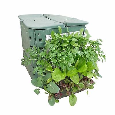 Vegetable grow bag - vertical planter for garden and composter
