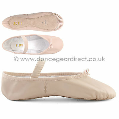 Ballet Shoes-Pink Leather Full Sole with attached elastics; Bloch Arise S0209