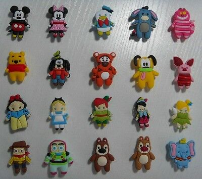 New Lot 100 pcs Disney series cartoon mix Shoe Charms Fit Jibbitz Free shipping
