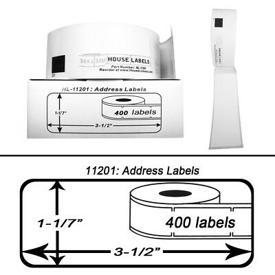 6 Rolls of DK-1201 Brother-Compatible Address Labels  [BPA FREE]