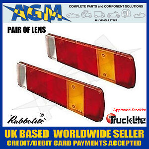 Pair of GENUINE Rubbolite / Truck-Lite 80873A Rear Lenses Scania fits M461 Lamps