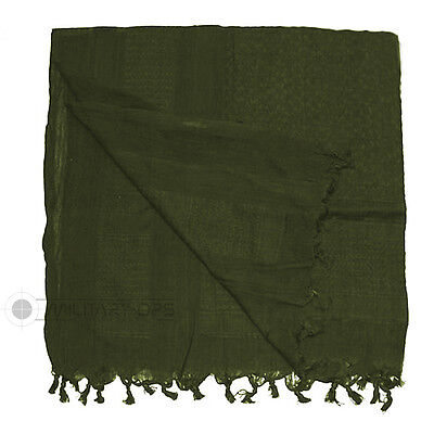 Original Shemagh 100% Cotton Plain Olive Green Arab Desert Scarf Sas Army
