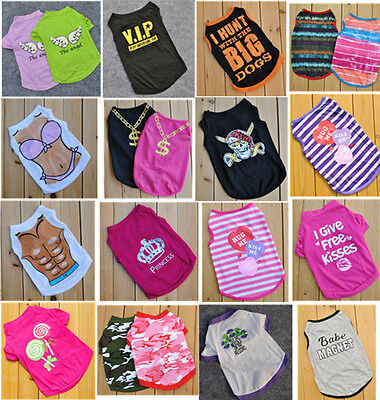 Summer Various Puppy Small Dog Cat Pet Clothes Vest T Shirt Apparel Halloween
