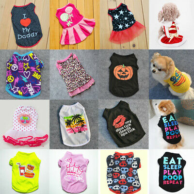 Summer Spring Various Pet Puppy Small Dog Cat Pet Clothes Vest T Shirt Apparel