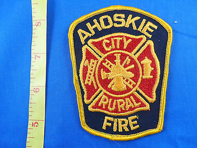 AHOSKIE CITY RURAL FIRE DEPT NORTH CAROLINA  CLOTH PATCH -EMBROIDERED