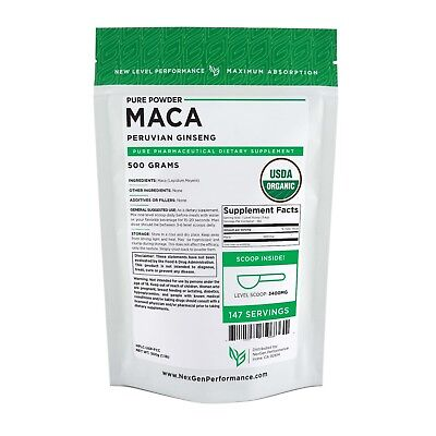 Organic MACA Powder -100% Pure - USDA-PHARMACEUTICAL Grade -ALL Sizes -New Look