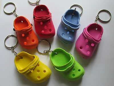 12 CROCS KEYCHAINS croc shoe clog sandal key chains footwear charm REALLY CUTE