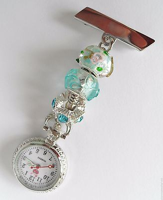 Pretty Nurses/Carers/Beauticians European Charm Fobwatch £7.99
