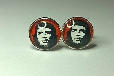 Che Guevara Glass Domed cufflinks, boxed fathers day gift, things for him