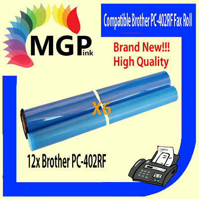 6 BROTHER PC-402RF COMPATIBLE ink film ribbon FAX PC402RF PC-402 727 737 780 817