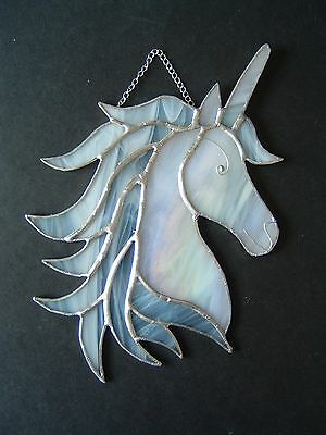 New Stained glass Unicorn suncatcher magical horse fairytale collectable gift