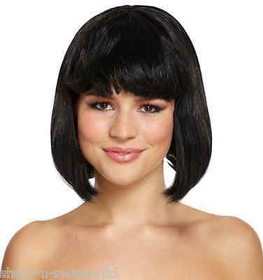 ☆ Ladies Black Short Bob Wig 1920s Flapper or Snow White Fancy Dress ☆