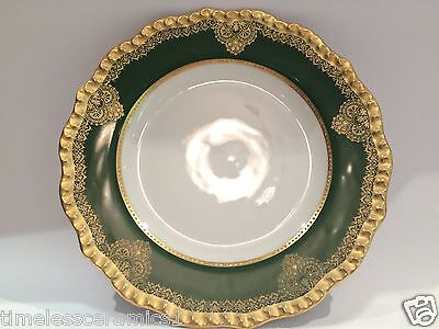 Antique Limoges J Pouyat Hand Painted Porcelain Plate