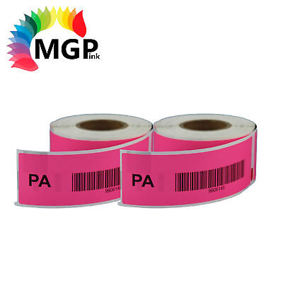 2 Compatible for Dymo/Seiko 99010 Pink Label 28mm x 89mm Labelwriter450 Turbo