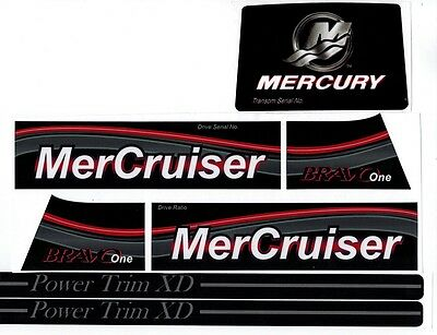 Mercruiser Bravo One Decal Set With Gray Trims