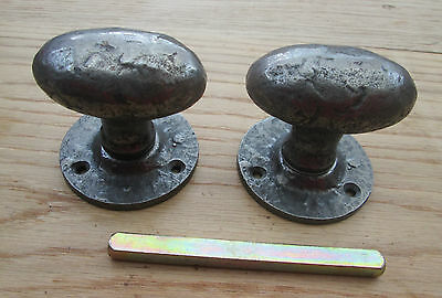 Cast Iron  Heavy Vintage Old English Style  Mortice Lever Door Knobs Handles