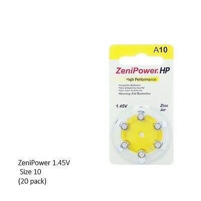 Zenipower 1.45V Hearing Aid Batteries Size 10 (120 Batteries Total)