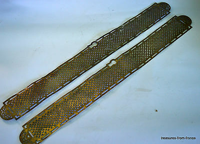 french vintage gilt brass huge door finger plates