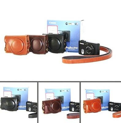 camera leather case bag cover strap to Canon Powershot S120 S110v S110 S100 S95