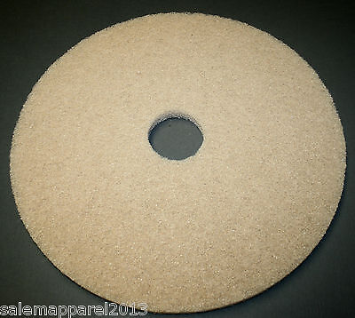 """3M Tan 3400 19"""" Burnish Pads Sanding Buffing Cleaning Floors  - Box Of 5"""