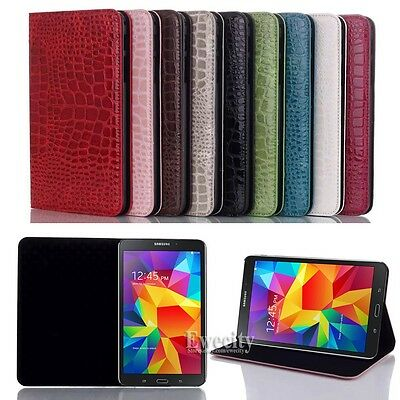 Folio Crocodile Pattern Leather Case Cover For Samsung Galaxy Tab 4 8.0 SM T330