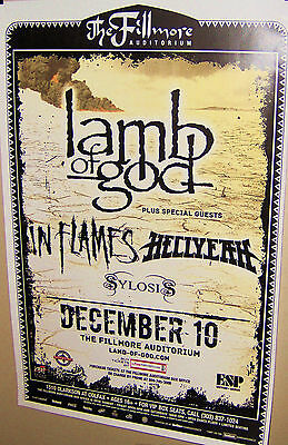 LAMB OF GOD In Flames Hellyeah in Concert FILLMORE Show Poster Denver Co 12-10