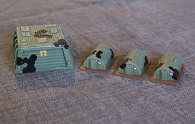 Hardened tank hangar and infantry huts 1/300 scale 6mm sci-fi buildings