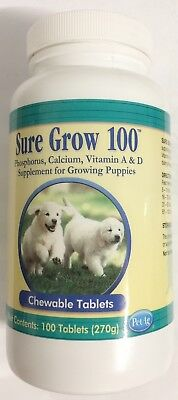 Sure Grow 100 Nutritional supplement For Dogs & growing Puppies chewable Tabs