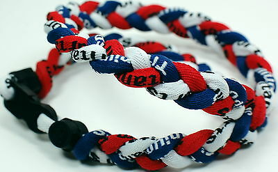 "Wholesale Lot of 20 18"" Red White Navy Blue Necklaces Plus Express Shipping"