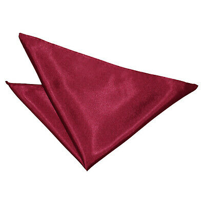 Dqt Satin Handkerchief Pocket Square Hanky - Burgundy